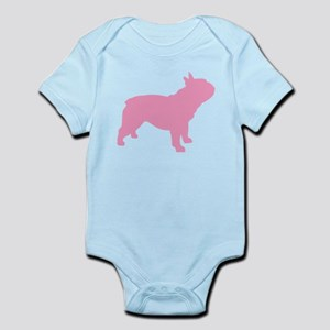 Pink French Bulldog Infant Bodysuit