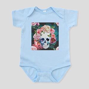 Flowers and Skull Infant Bodysuit