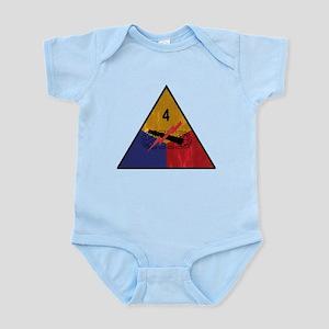 4th Armored Division Vintage Infant Bodysuit