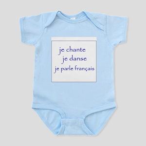 je chante je danse je parle français Infant Bodysu