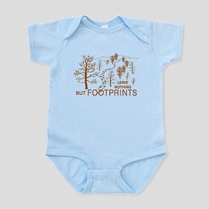 Leave Nothing but Footprints Brown Infant Bodysuit
