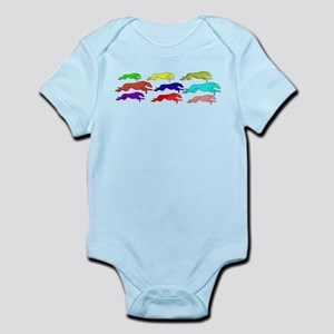 The Greyhound outline (in man Infant Bodysuit