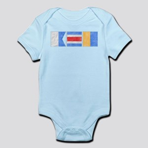 "Nantucket ""ACK"" Signal Flag Infant Bodysuit"