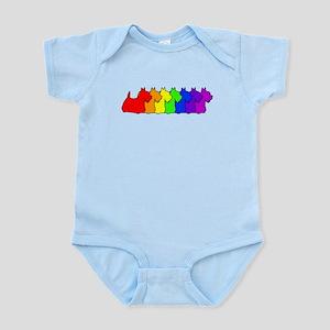 Rainbow Scottie Infant Bodysuit