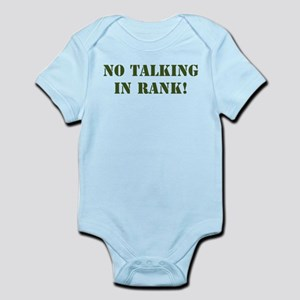 No Talking Infant Bodysuit