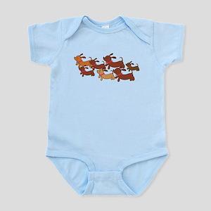 Running Weiner Dogs Infant Bodysuit