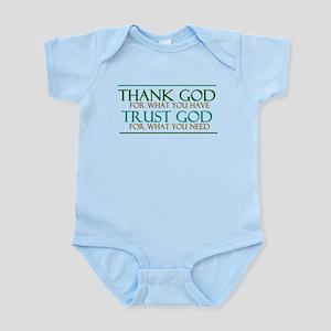 Thank God - Trust God Infant Bodysuit