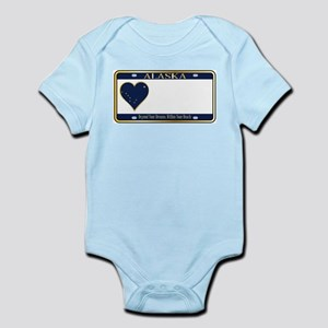 Alaska State License Plate Body Suit