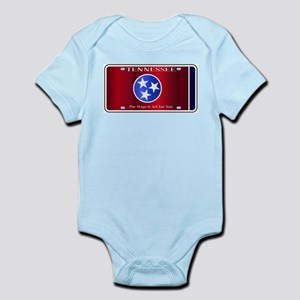 Tennessee State License Plate Flag Body Suit
