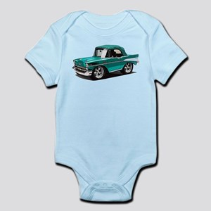 BabyAmericanMuscleCar_57BelR_Green Body Suit