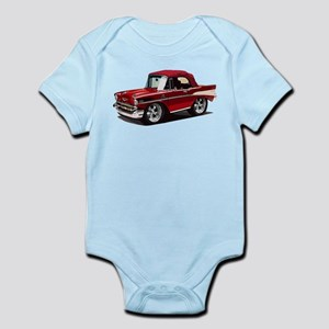 BabyAmericanMuscleCar_57BelR_Red Body Suit