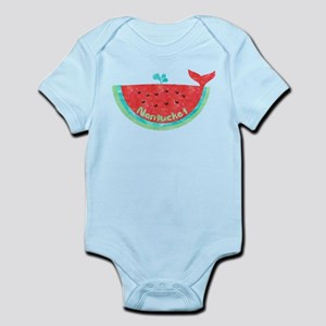 Cute Nantucket Watermelon Whale Body Suit