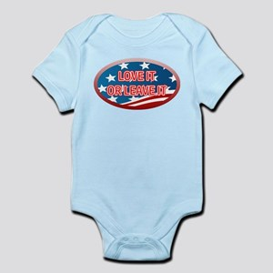 LOVE IT OR LEAVE IT! AMERICAN FLAG Infant Bodysuit