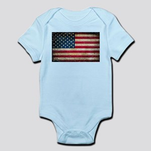 Faded American Flag Body Suit