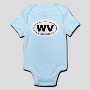 West Virginia State Infant Bodysuit