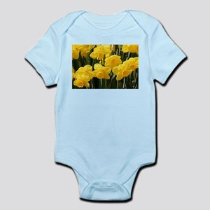 Daffodil flowers in bloom in garden Body Suit