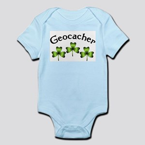 Geocacher 3 Shamrocks Infant Bodysuit