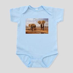 Family Of Elephants Body Suit