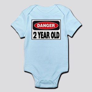 2 Year Old Danger Sign Body Suit