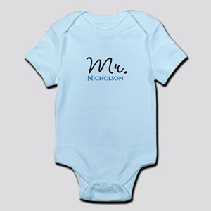 Customizable Name Mr Baby Light Bodysuit