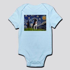 Starry Night/Boston Terrier Infant Bodysuit