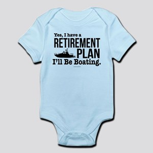 Boating Retirement Body Suit