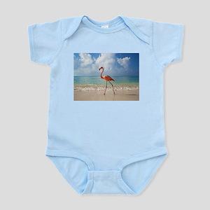 Flamingo On The Beach Body Suit