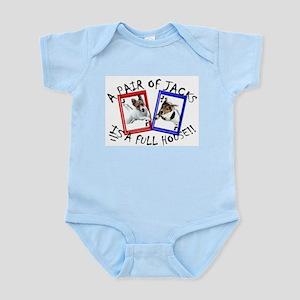 "Jack Russell Terrier ""PAIR OF JACKS"" Infant Creepe"