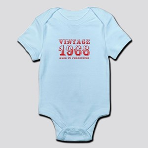 VINTAGE 1968 aged to perfection-red 400 Body Suit