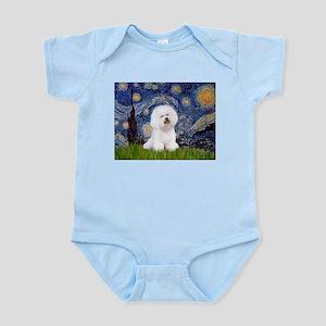 Starry Night Bichon Infant Bodysuit