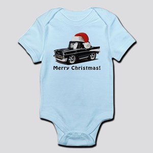 BabyAmericanMuscleCar_57BelR_Xmas_Black Body Suit