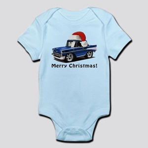 BabyAmericanMuscleCar_57BelR_Xmas_Blue Body Suit
