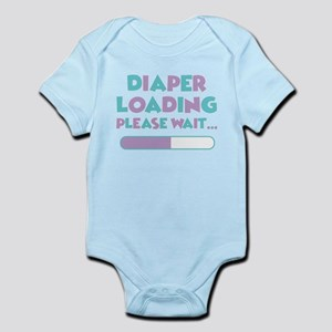Diaper Loading Please Wait Baby Light Bodysuit