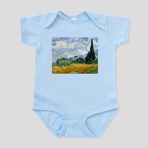 Van Gogh Wheat Field With Cypresses Infant Bodysui