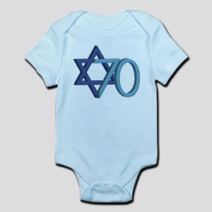 Israel Turns 70! Baby Light Bodysuit