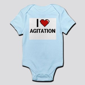 I Love Agitation Digitial Design Body Suit