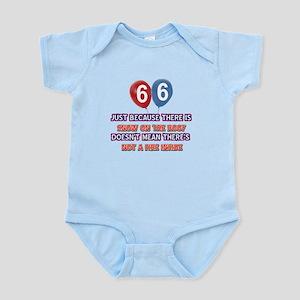 66 year old designs Infant Bodysuit