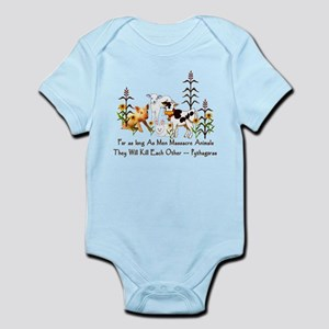 Pythagoras Vegetarian Quote Infant Bodysuit