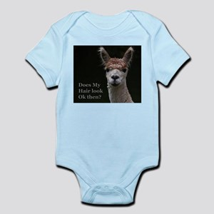 Alpaca with funny hairstyle Body Suit