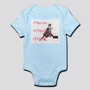 3 Barrels, 2 Hearts, 1 Dream Infant Bodysuit