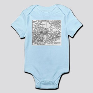 Ancient Athens Map Infant Bodysuit