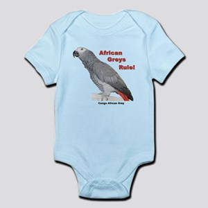 African Greys Rule Body Suit