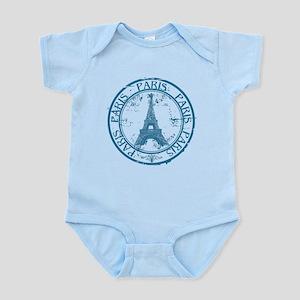 Paris travel stamp Body Suit