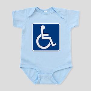 Handicap Sign Body Suit