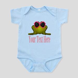Frog in Pink Sunglasses Custom Body Suit