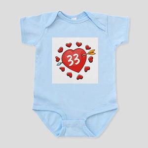 33rd Valentine Infant Creeper