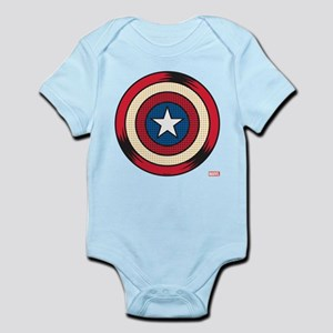 Captain America Comic Baby Light Bodysuit