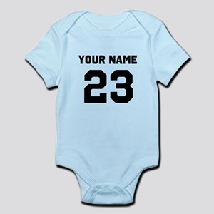 Customize sports jersey number Infant Bodysuit