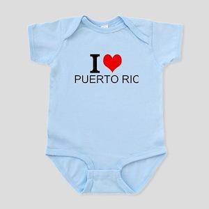 I Love Puerto Rico Body Suit