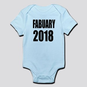 February 2018 Birthday Designs Baby Light Bodysuit